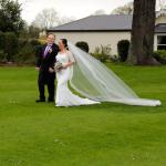 Our daughter and her new husband at Roganstown