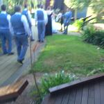 Invaded by the wedding party that had everyone kicked out of the pool area.