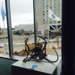 Looking out over octopus sculpture in convention center at The Westin