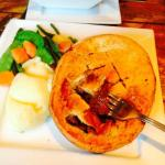 Home Made Steak & Ale Pie with Mash & Veg