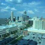 View from our room on the 20th floor overlooking downtown Indy