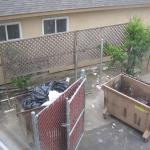 View from window of Garbage dump.
