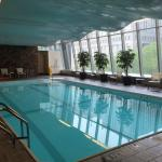 Pool area over looking Fulton Street and Church