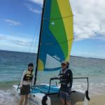 Modern hobie cat - Around island in 10 mins!
