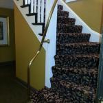 Stairway to upper floors; pack light as there are no elevators!
