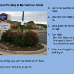 Directions to Back Parking Lot Behind the Hotel