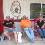relaxing after a GREAT Harley ride!