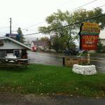 The Motel's sign and the ice cream stand/diner