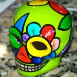 The skull I painted at the craft area. The owners fix up all the stuff so it looks beautiful.