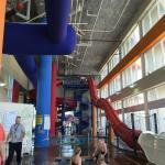 Inside the waterpark area