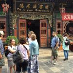 Outside the beautiful old-time guesthouse - as ancient as China