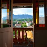 View from inside the room looking towards the mountains