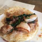 Pork belly and scallop taco. Awesome!