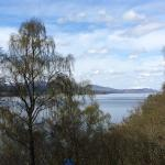 View across Loch Rannoch from hotel