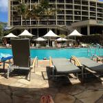 Pano of Turtle Bay pools...