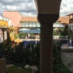 View of pool area from room