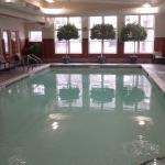 The heated indoor swimming pool