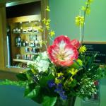 One of the gorgeous fresh floral arrangements that are at the front desk daily