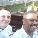 Me with Chef Tim--he really knows how to work a grill