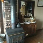 Wood Stove in Sitting Room/Living Room