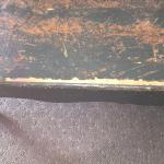 Bedroom bench with splintered wood