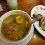 Let's try some oxtail soup with rice and salad