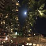 Full moon over the Outrigger