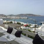 The Mykonos view hotel has AMAZING views of the main city (and is a quick 5 minute walk from it