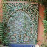 Mosaic water feature in the dining room.
