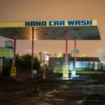 This is what you are presnted with on leaving the A14.... a working hand car wash.  You have to