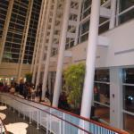 "Magnificent lobby of the ""Adrienne Arsht Center"" in Miami"