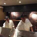 Brick oven pizza made to order, right in front of you!