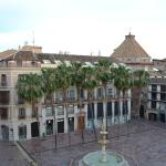 View from room onto Plaza de la Constitucion