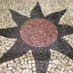 Tile pattern at the entrance of the hotel - reminiscent of the tiles along Ipanema and Copacaban