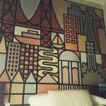 The hand-painted SF mural in my hotel room.