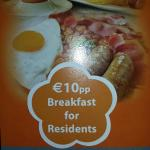 Advertised Price for Breakfast