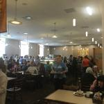 Crowded dining room