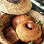 Pastry basket. the breakfast was an experience in itself