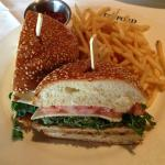 The Crispy Canyon Sandwich with thin french fries