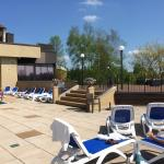 The Outdoor Pool deck....