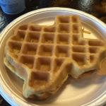 Texas sized and shaped waffles