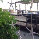 Fabulous new deck area  overlooking the beach