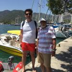 Dresort Beach, Göcek Marine and our Driver and Owner of Lades small Yacht