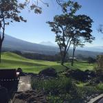 View from room to golf course and second volcanoe