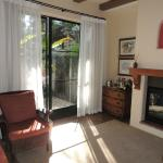 Sitting area leads to Lanai in Suite