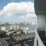 Bay view from the balcony of Room 2116 in Sunny Isles Beach's Trump International Resort
