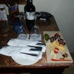 Privilege Wine and Cheese in the room