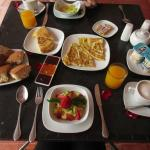The breakfast spread