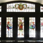 One of the amazing original stained glass windows