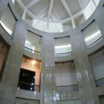 The impressive foyer of the Heritage Department building housing the museum